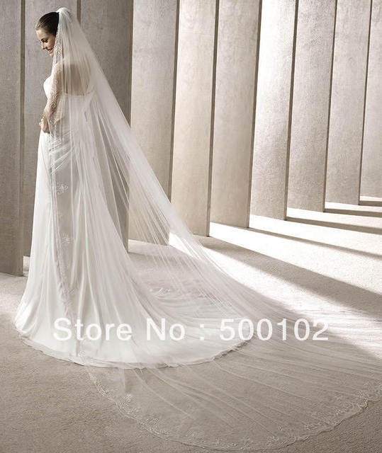 Free Shipping Simple Design Tulle Wedding Veil