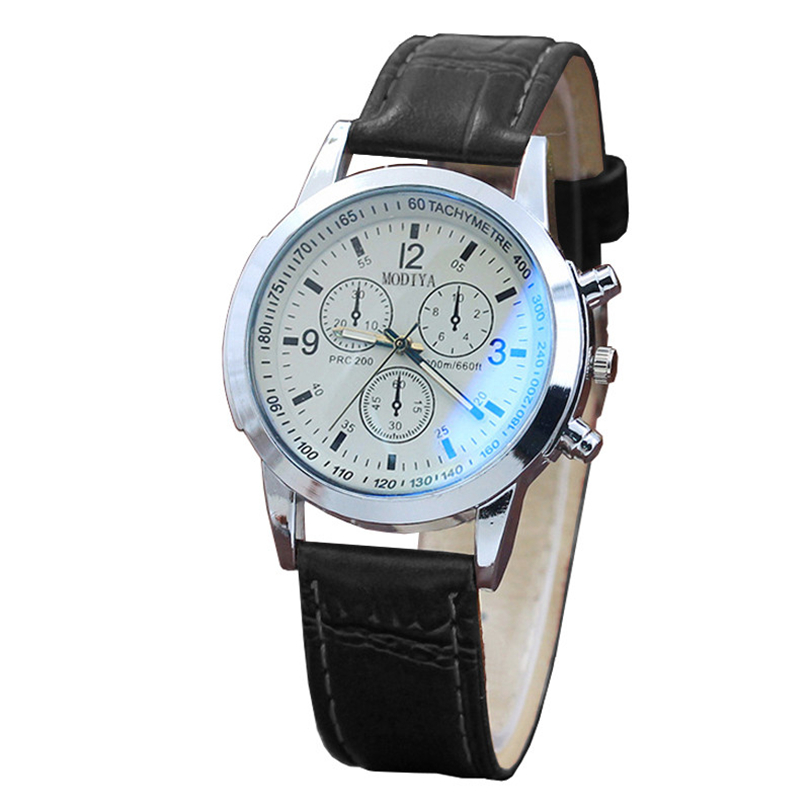 Wristwatch Leather Mens Watches Casual Steel Belt Sport Quartz Hour Wrist Analog Men Watch Fashion Classics Gifts F80