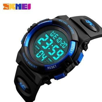 SKMEI детские часы, модные детские часы с будильником для мальчиков, светодиодные цифровые часы для детей, студенческие водонепроницаемые наручные часы