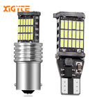 1pcs T15 T20 1156 BA15S P21W W16W 45SMD 4014 LED CANBUS NO ERROR Car Tail Bulb Brake Light Auto Backup Reverse Lamp WHITE DC12V