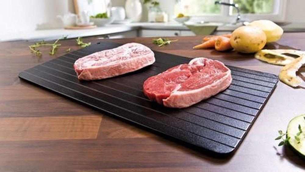Meijuner Fast Defrosting Tray Thaw Frozen Food Meat Fruit Quick Defrosting Plate Board Defrost Kitchen Gadget Tool 12