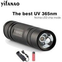 Convoy S2 + Black UV 365nm Led Flashlight Nichia 365UV Inside OP Reflector Fluorescent Agent Detection