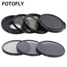 FOTOFLY Yi 4 K Macchina Fotografica di Azione di Filtro UV CPL ND2/4/8 12.5X Macro Lens Filtri Set Per xiao yi 4 K Lite Più Macchina Fotografica di Sport Accessori