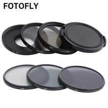 FOTOFLY Yi 4K Action Camera Filter UV CPL ND2/4/8 12.5X Macro Lens Filters Set For Xiao yi 4K Lite Plus Sport Camera Accessories