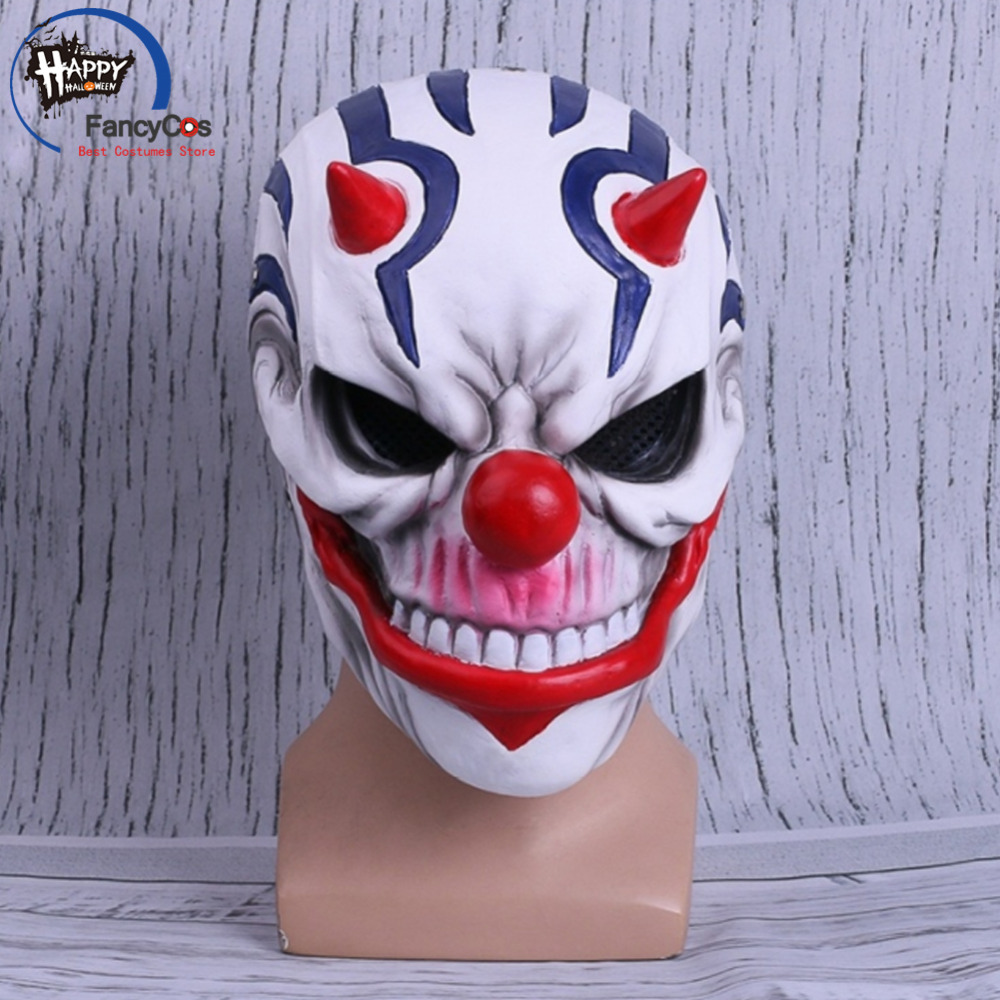 FancyCos Game PAYDAY 2 Dallas  Rust  Mask Cosplay Helmet Halloween Resin Mask Props Gifts Mask High Quality Costumes