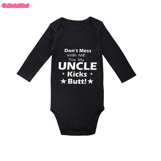 393f69b05 placeholder Culbutomind My Uncle Kicks Butt Cute Long Sleeve Organic Cotton  Spring Autumn Baby Shower Gift Infant