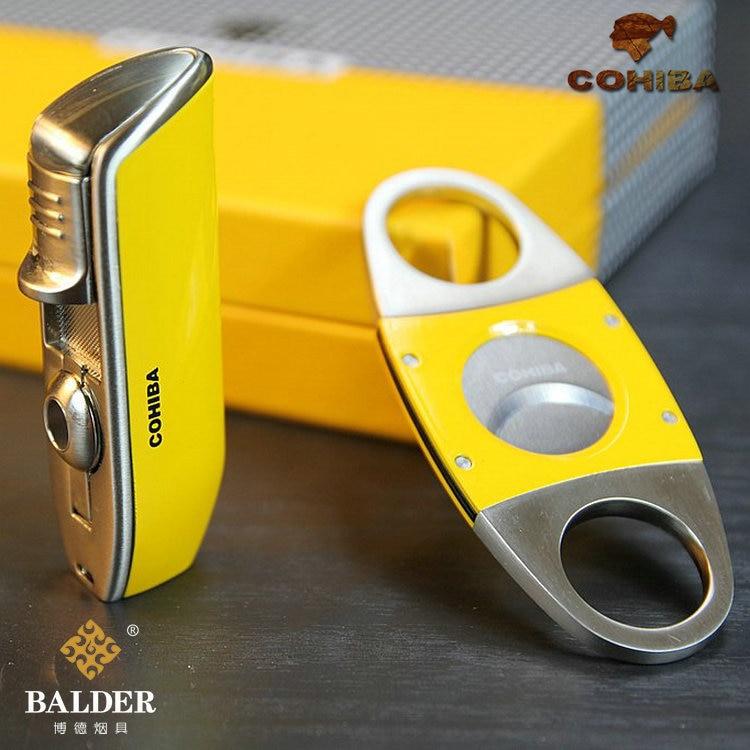 COHIBA Lighters & Smoking Accessories,Cigar Accessories,metal Cigar Cutter,Cigar scissors,cigar lighter,Mens gift