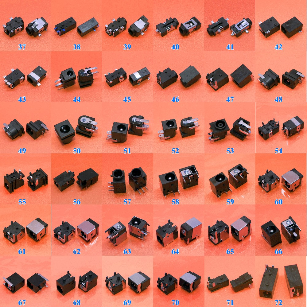 Sample package:72models,72pcs Tablet PC MID Laptop DC Power Jack Connector for Samsung/Asus/Acer/HP/Toshiba/Dell/Sony/Lenovo free customs taxes and shipping li ion ebike battery pack 24v 8ah 350w electric bike kit battery hailong e bike with charger
