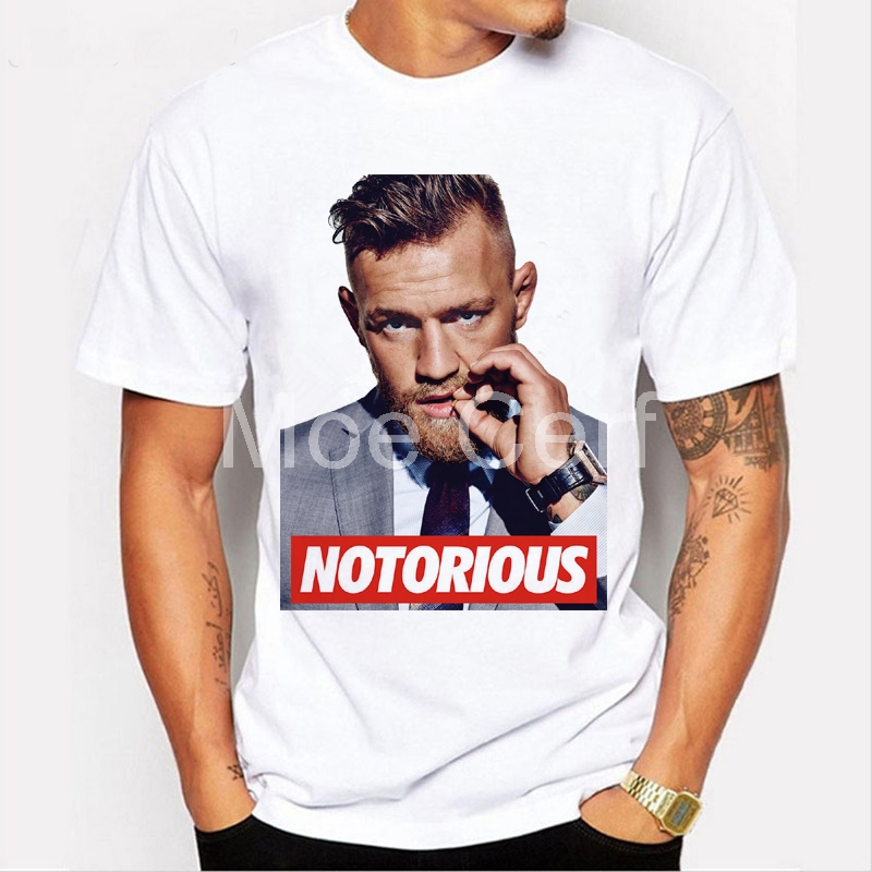 Conor McGregor UFC KFC Colonel Creative Design Harland Sanders MMA Printed Summer Short Sleeve   T     Shirt   Men Funny   T  -  Shirt   L9-D-48