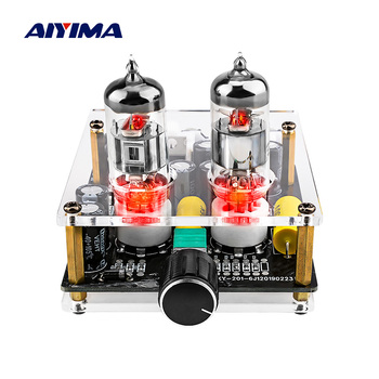 AIYIMA Amplificador Fever 6J3 Tube Preamplifier Mini Pre Amplifiers Audio Board Preamp Bile Buffer Power Amplifier Professional diy kit ac 12v 6j1 tube fever pre amplifier preamp amp pre amplifier board headphone buffer module stereo potentiometer valve