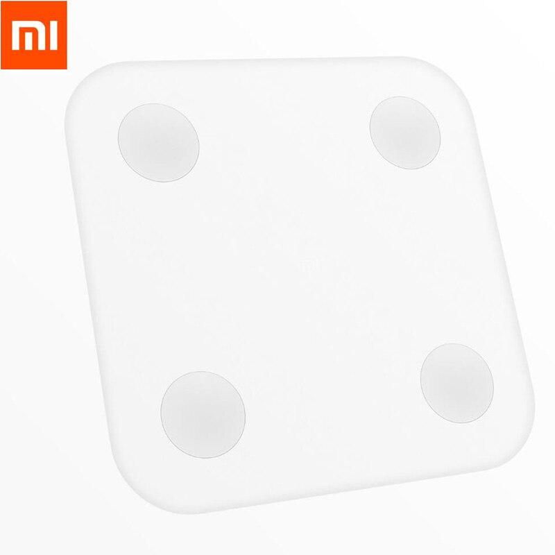 imágenes para Xiaomi mi Grasa Corporal Escala Con Mifit APP Inteligente y Cuerpo Monitor de composición Con Hidden Led Pad Pies Grandes de la pérdida de Peso escala
