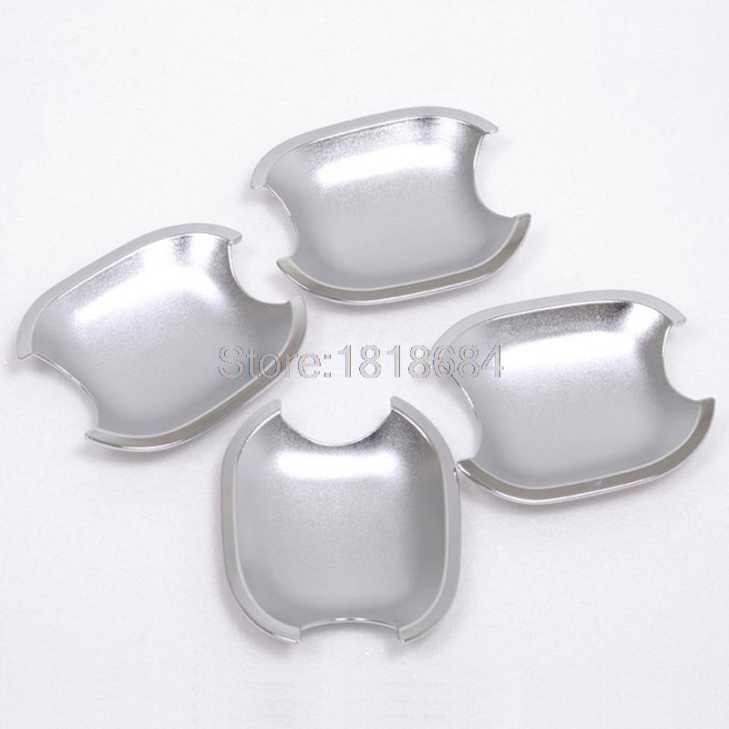 For Toyota Highlander 2008-2013 High Quality ABS Chrome Side Door Handle Cup Bowl Cover Moulding Trims Auto Accessories 4pcs/set