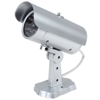 18 False IR LEDs Emulational Decoy Dummy CCTV Camera With Red Blinking LED Light
