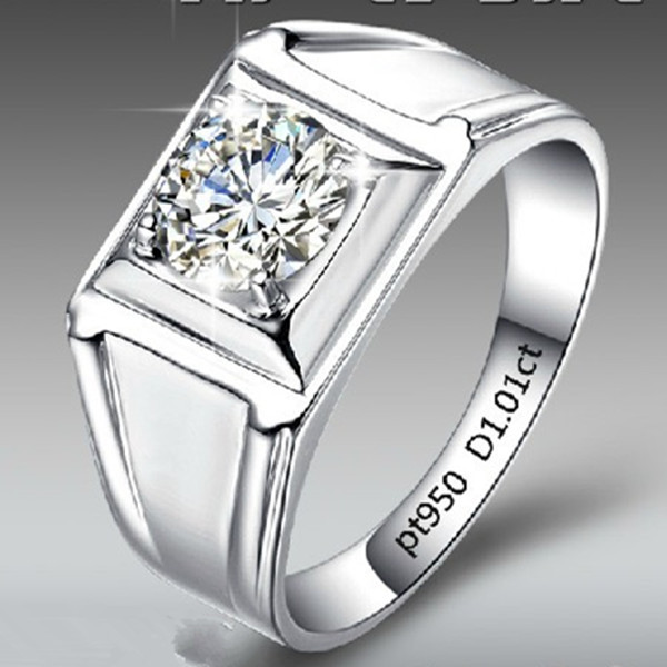 Wholesale0.5 CT Classic Synthetic Diamond Ring For Man