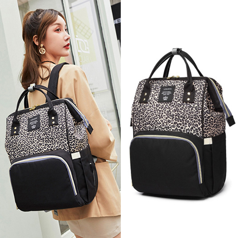 Diaper bag backpack Travel Leopard Men Mummy Baby Care nappies stroller Bag Large Capacity Waterproof Business Diaper bag backpack Travel Leopard Men Mummy Baby Care nappies stroller Bag Large Capacity Waterproof Business baby bag for mom