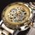 VENCEDOR Relógios de Ouro Esqueleto Relógio Mecânico Relógio de Aço Inoxidável Dos Homens Top Marcas De Luxo Homem Relógio Montre Homme relógio de Pulso