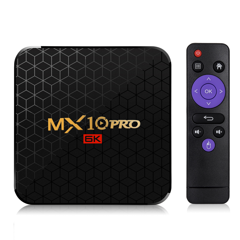 En gros Allwinner H6 Android 9.0 TV Box 6 K lecteur multimédia 4 GB 64 GB TVbox Android9.0 Smart Box 4G32 MX10 Pro