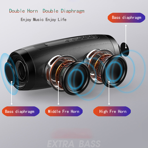 Image 3 - ワイヤレス bluetooth スピーカー led ライト列ボックススピーカー fm tf usb 携帯電話コンピュータ