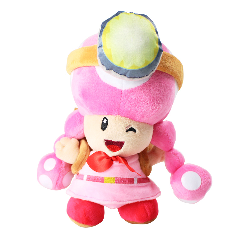 20cm Super Mario Plush Toys Mushroom Sister with bag Toadette Stuffed Plush Toys20cm Super Mario Plush Toys Mushroom Sister with bag Toadette Stuffed Plush Toys