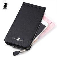 Wallet for Credit Card Holder for Men Genuine Leather Zipper Wallet Business Card Holder Leather purse for card 139