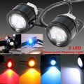 2 UNIDS 12 V LED de La Motocicleta Espejo Retrovisor Calentamiento Flash Strobe Luz de La Lámpara Decorativa