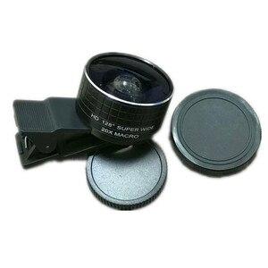 Image 4 - Lente Macro de doble cámara 2 en 1, lente Macro de 20X para cámara de teléfono móvil y lente gran angular HD de 128 grados para iPhone 7 Plus X 8