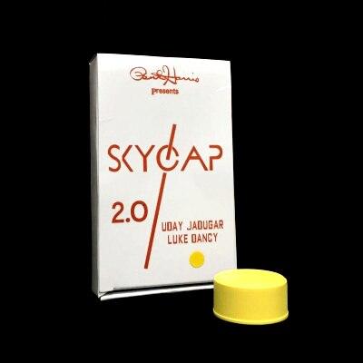 Skycap 2.0 (Rouge/Jaune/Blanc Disponible) tours de magie Bouchon de la Bouteille Pénétration Magie Close Up Illusion Gimmick Prop Mentalisme Fun