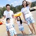 Одежды семьи мать отца дочь комплект мама и сын соответствующие одежды семья 2016 летние каникулы комплект одежды посмотреть 150 160