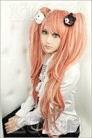 Danganronpa Cosplay Dangan Ronpa Junko Enoshima Wigs Ombre Mixed Colors Cosplay Costume Wig+Black and White Bear