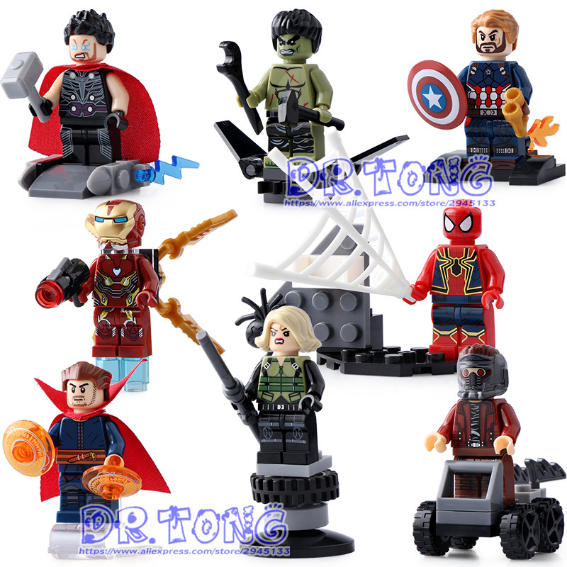 DR.TONG 80PCS/LOT SY687 Super Heroes Captain America Thor Spiderman Superman Bricks Model Building Blocks Children Gift Toys dr tong 80pcs lot sy658 super heroes hulk superman thor batman ironman spiderman building blocks bricks diy toys children gifts