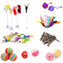 pawstrip 10pcs lot font b Pet b font Cat Toy Mouse Sisal Ball Feather Toy For