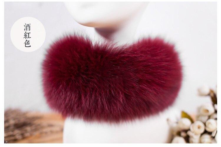 SCM043 шарф из лисьего меха шарфы-повязки на шею теплая накидка шаль-пончо снуд много цветов 57*12 см