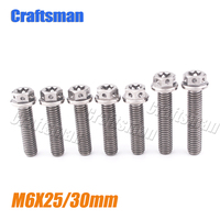 Titanium Bolts 5Pcs M6X25 & 2Pcs M6X30 mm Ti Screws Bolt for Most Models KTM Motorcycle Left Engine Cover Grade 5 Ti Fastener