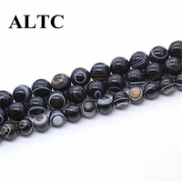 Beads Wholesale Natural Pattern Stone Spacer Beads For Necklace Making DIY Smooth Ethnic Perles En Gros