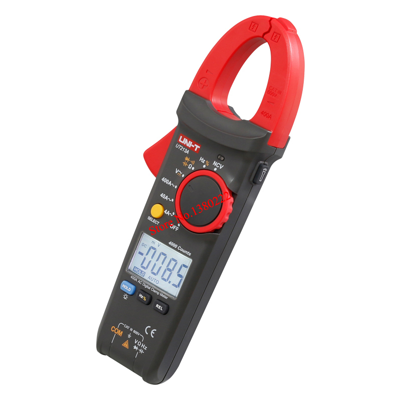 UNI-T UT213A True RMS 400A Digital Clamp Meter AC/DC/Resistance/Capacitance/Frequency/ Clamp Digital Multimeter uni t ut256b 200a true rms fork meter ac dc fork type digital clamp type table clip on multimeter ut256b capacitance resistance
