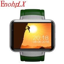 EnohpLX DM98 relógio Inteligente MTK6572 2.2 polegada HD IPS Tela LED 900 mAh bateria 512 MB Ram 4 GB Rom Android 4.4 os 3G WCDMA GPS WIFI
