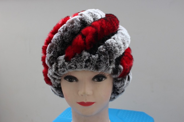 Free shopping cap hat rabbit fur high quality real fur women real fur hat