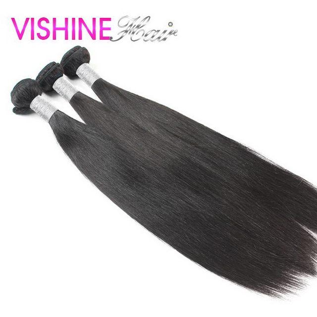 Vishine peruano cabello virgen 3 bundles straight 7A Sin Procesar peruana recta extensión del pelo peruano virginal del pelo recto