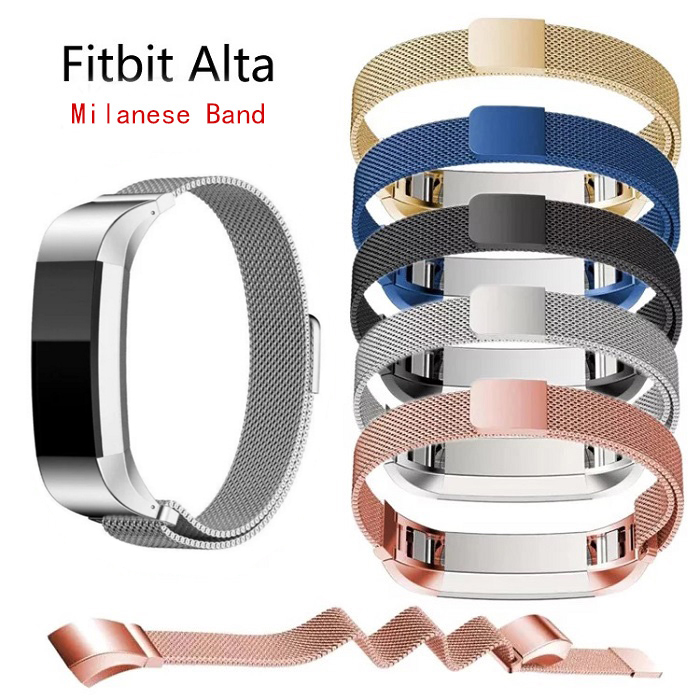 High QualityNew Adjustable Stainless Steel Fashion Watch Wristband Strap Men Women Band for Fitbit Alta Bracelet Belt Accessory lnop nylon rope survival strap for fitbit alta alta hr replacement band bracelet wristband watchband strap for fitbit alta