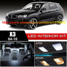 1 12v Xenon White/Blue Package Kit LED Interior Lights For 04-10 BMW X3 CanBus