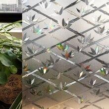 CottonColors PVC Impermeable Cubierta de la Ventana de Películas, No-Pegamento Estática 3D Flor Decoración de Vidrio de Privacidad Tamaño de sus Etiquetas 45×200 cm