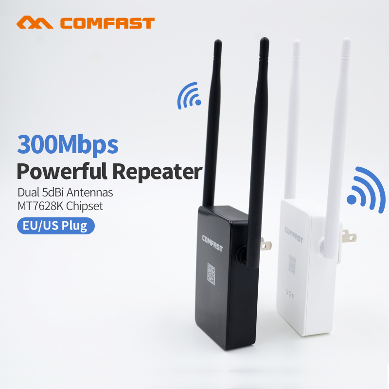 Comfast CF-WR302SV2 Strong Signal WI FI Amplifier Router 300M Wireless Wi-Fi Repeater Network Router 10dbi Antenna Wifi Access(China)