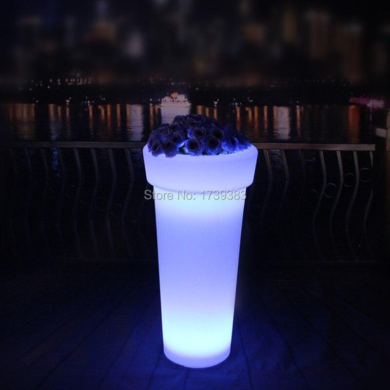 X-POT H96 High Tower Round LED Flower Pot (5)
