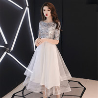 Elegant Evening Party Mesh Dress Exquisite Formal Cheongsam Sexy Sequins Bride Wedding Qipao A Line Gown Vestidos Oversize 3XL