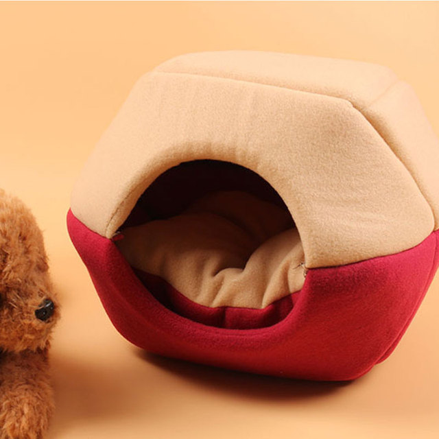 Foldable Soft Warm Winter Cat Dog Bed House Animal Puppy Cave Sleeping Mat Pad Nest Kennel Pet Supplies Hot Sale 1