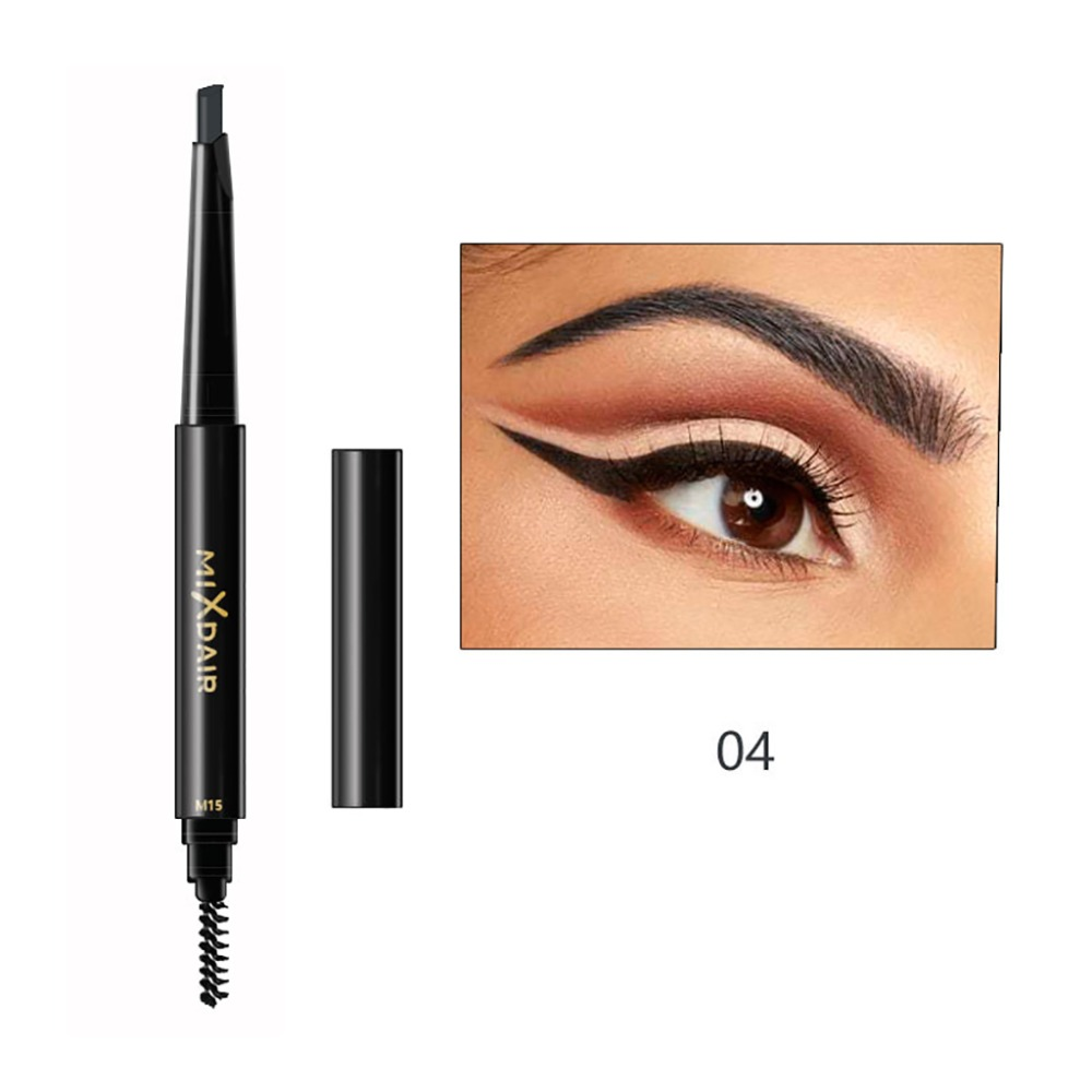 MIXDAIR double ended eyebrow pencil long lasting black coffee Triangular head automatic rotation eyebrow drawing pen MD008 3