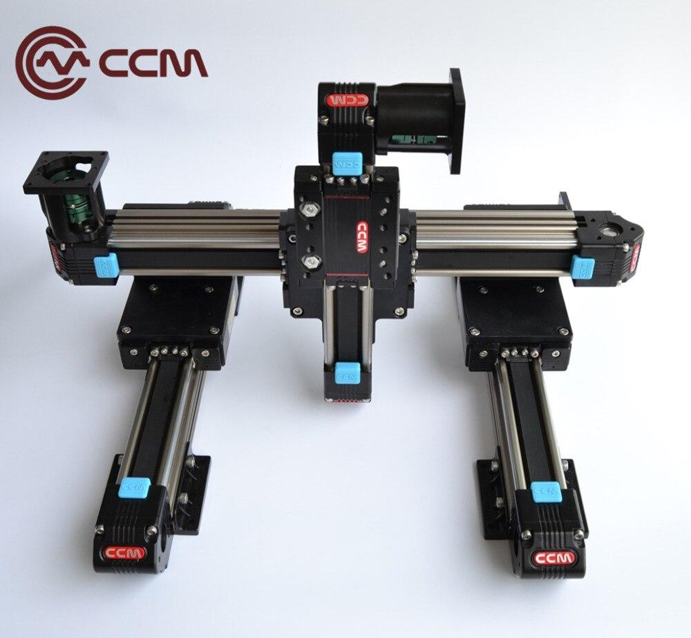 High speed XYZ system with travel range 500x500x500mmHigh speed XYZ system with travel range 500x500x500mm