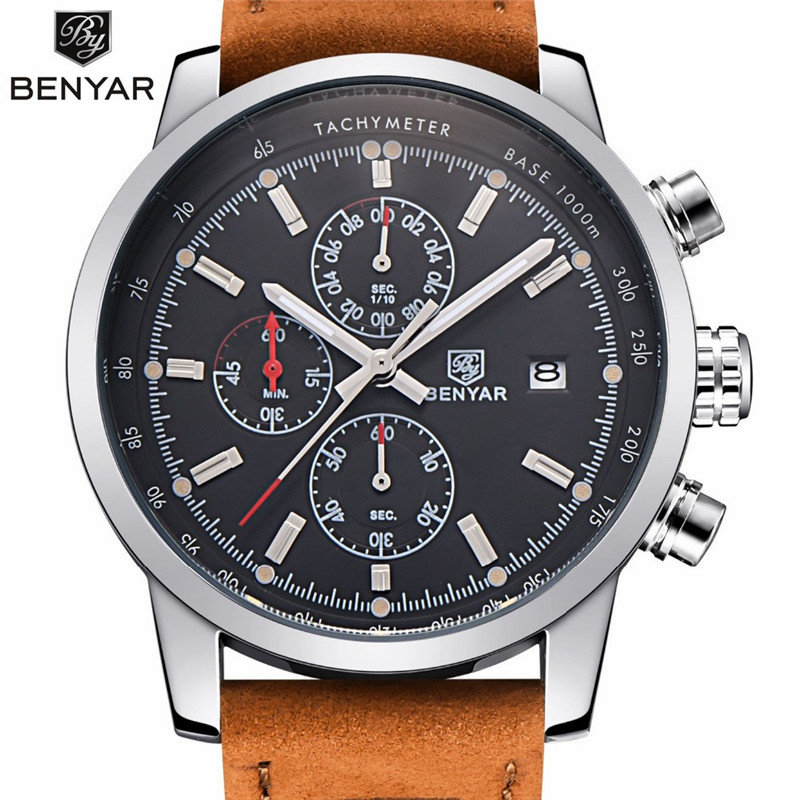 online get cheap luxury watch brand aliexpress com alibaba group benyar fashion chronograph sport mens watches top brand luxury quartz watch reloj hombre 2017 clock male