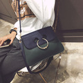 fashion women messenger bag flap ladies Metal ring crossbody shoulder bags handbags female high quality designer bolsos 8S10154