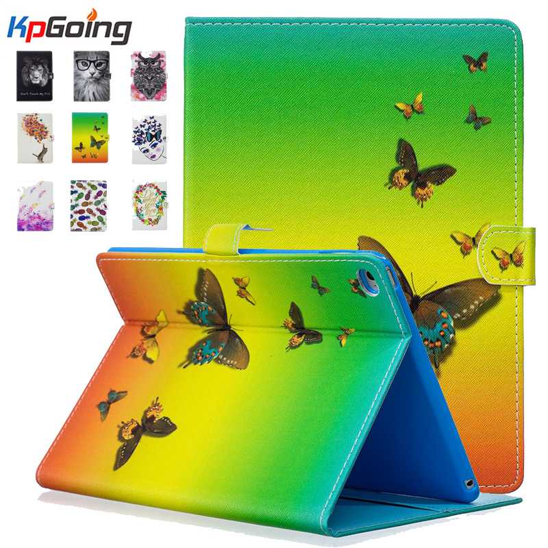 KpGoing For ipad Air 2 PU leather case auto sleep fashion cute paint case for ipad 6 Stand Flip Smart Cover Capa Funda